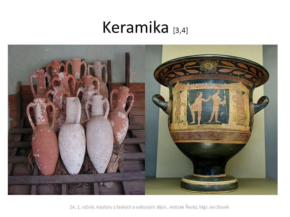 Keramika [3,4] ZA, 1. ročník, Kapitoly z českých a světových dějin , Antické Řecko, Mgr. Jan Slovák